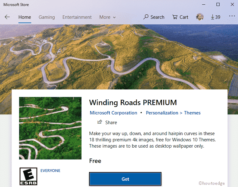 Windings Roads Premium Windows 10 Theme