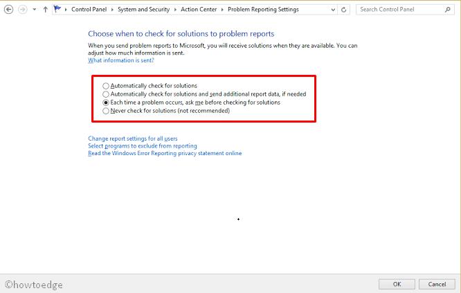 Windows 7 Error Reporting Service
