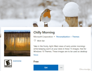 Chilly Morning Windows 10 Theme