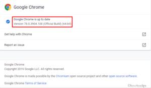 Missing Scroll bar on Chrome