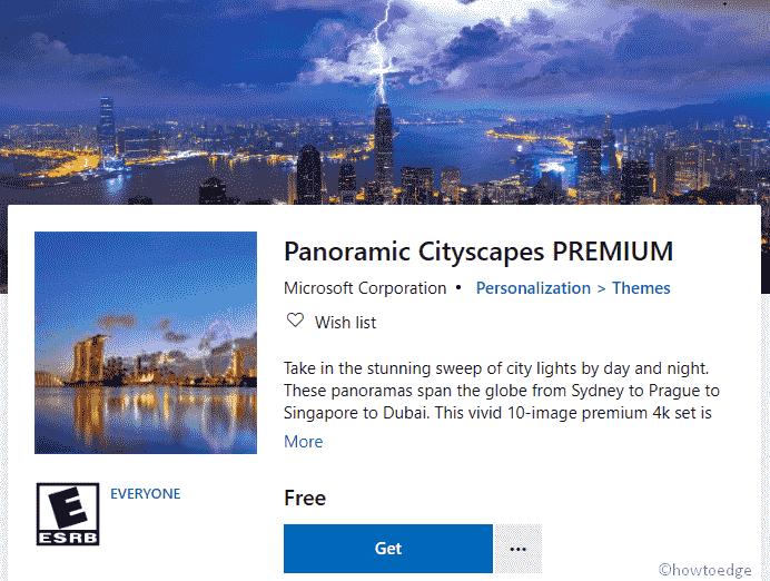 Panoramic Cityscapes PREMIUM Windows 10 Theme
