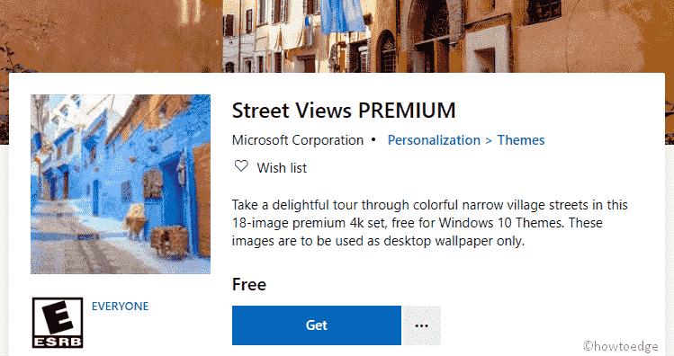 Street Views Premium Windows 10 Theme