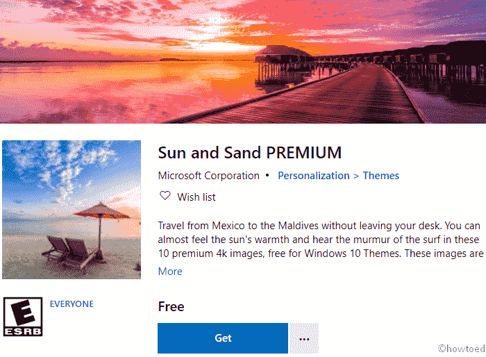 Sun and Sand Premium Windows 10 Theme