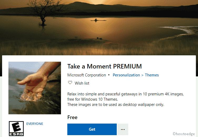 Take a Moment PREMIUM Windows 10 Theme