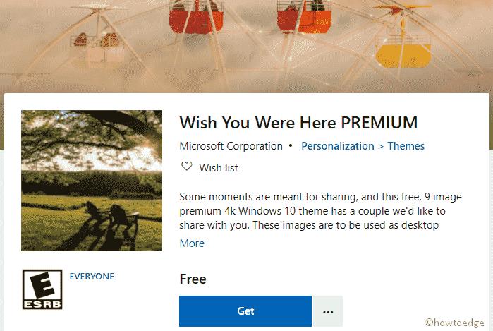 Wish You were Here Premium Windows 10 Theme