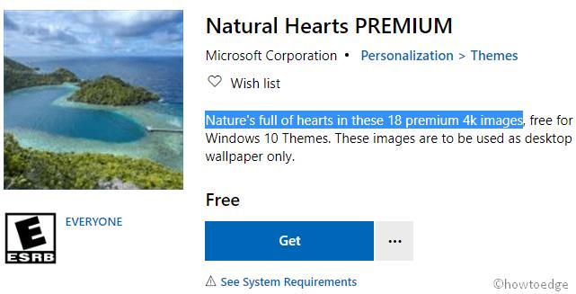 Natural Hearts Premium Windows 10 Theme