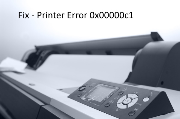 Unable to install Printer error 0x00000c1