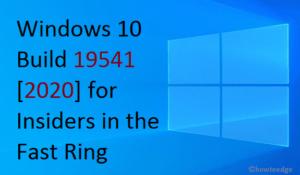 Windows 10 Build 19541 [2020]