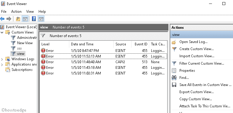 know BSOD log file location