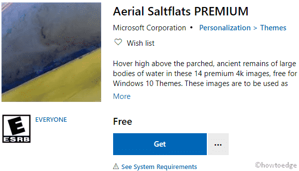 Aerial Saltflats PREMIUM Windows 10 Theme