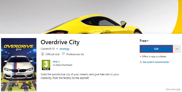 Overdrive City Windows 10 Game