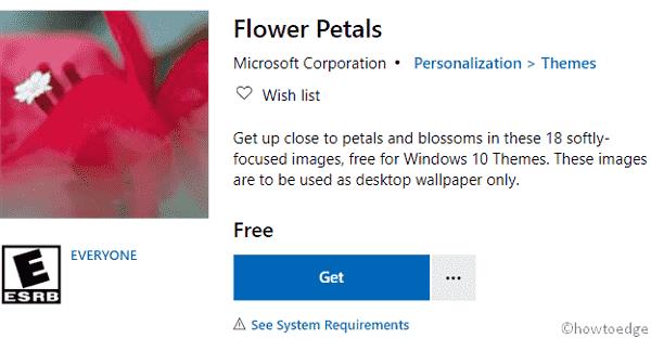Flower Petals Windows 10 Theme