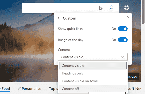 How to change Content Visibility on Microsoft Edge Chromium image 3