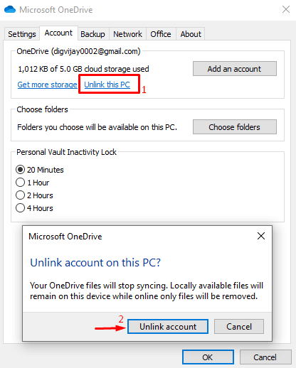 Unlink this PC