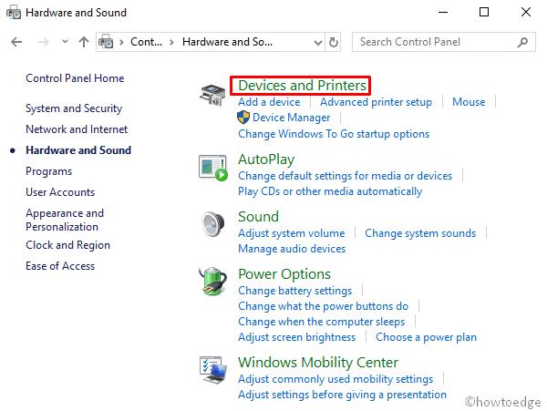 uninstall a printer driver