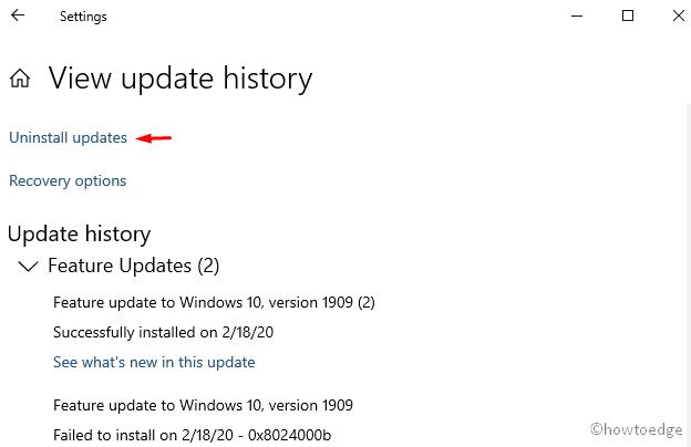 Error 0x0000003D - Update History