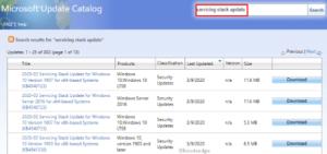 Windows 10 March 2020 Servicing Stack Updates