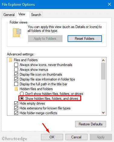 Show Hidden Files and Folders, Drives