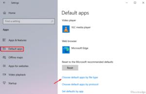 Change the Default File Associations