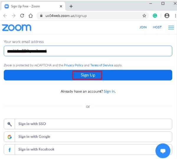Create Zoom Account