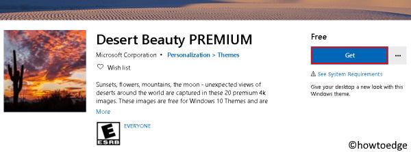 Desert Beauty PREMIUM Windows 10 Theme