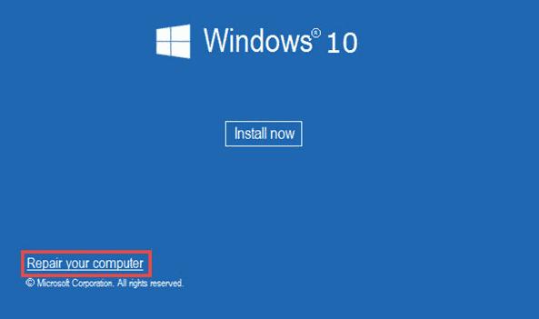 Repair your computer