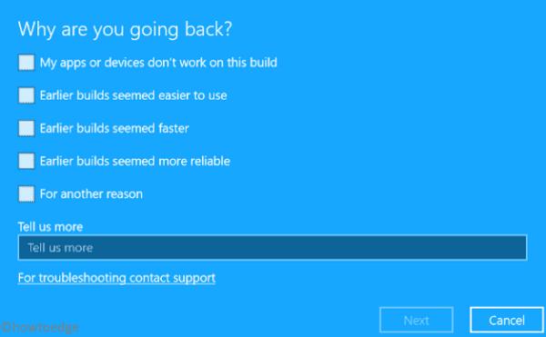 Rollback Windows 10 20H1