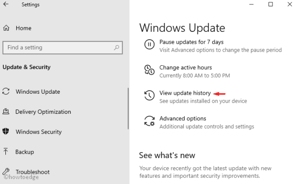 Uninstall the Updates