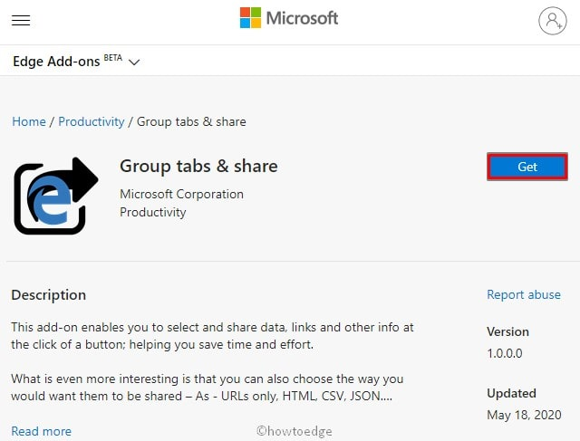 Group tabs & share