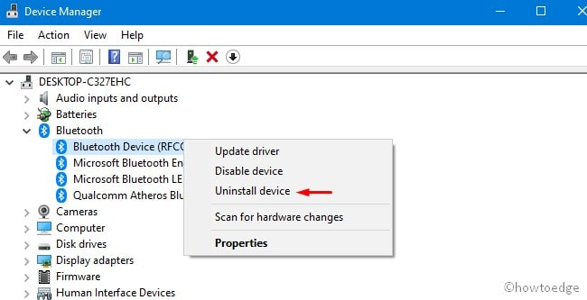 Missing Generic Bluetooth Driver