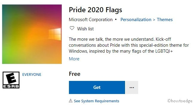Get Pride 2020 Flags Theme