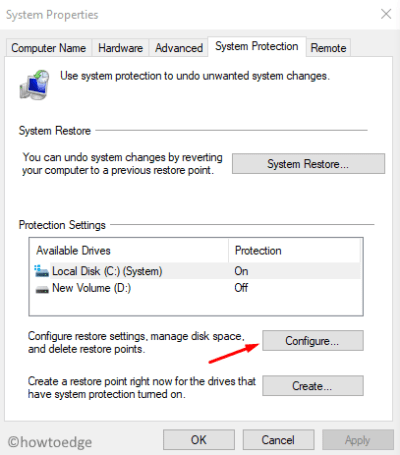 System Restore Error 0x81000203