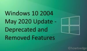 2004 Deprecated and Removed Features