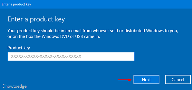 0x8007251D - Change Product Key