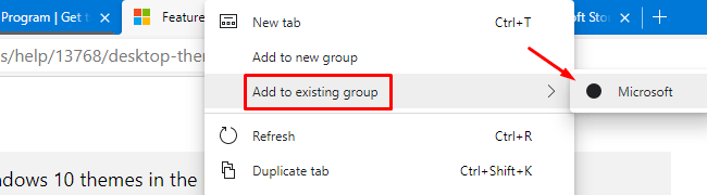 Add to existing group