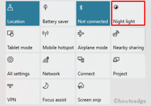 Night Light on Windows 10