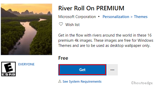 Download and Apply River Roll Theme