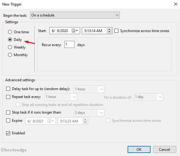 Schedule Windows Defender Signature Updates