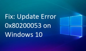 Update Error 0x80200053