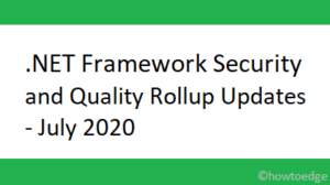 .NET Framework Security and Quality Rollup Updates