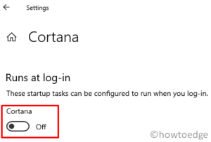 Stop Cortana from Restarting