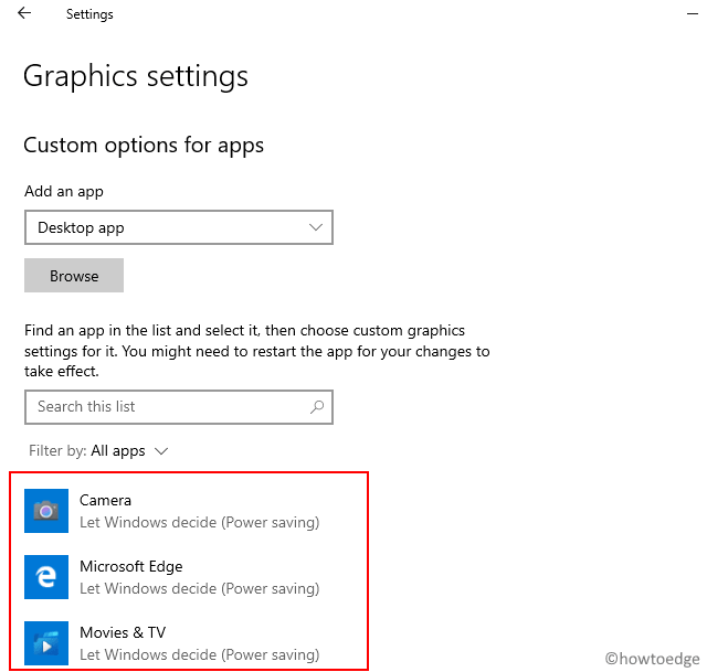 Windows 10 21H1 New Features - Graphic Settings