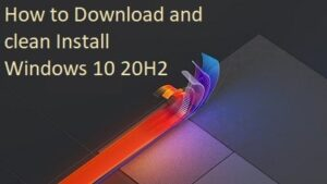 download and clean Install Windows 10 20H2