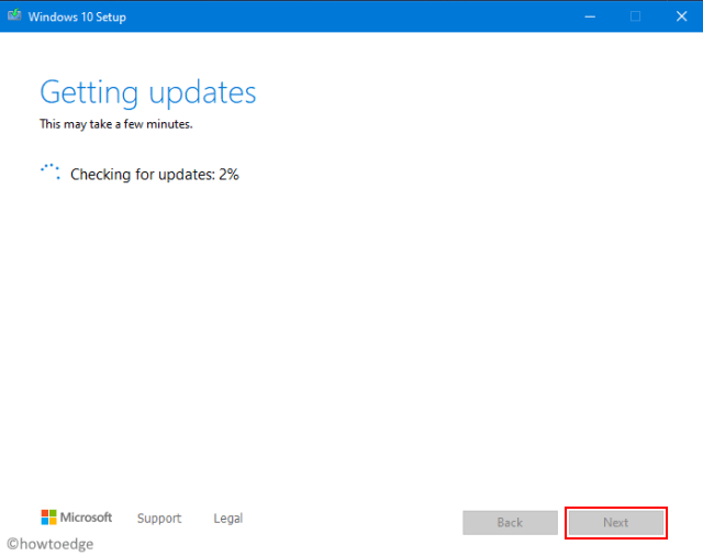Getting Updates - Install Windows 10 20H2