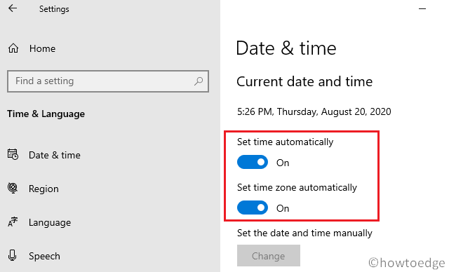 Make sure that the date and time are correct