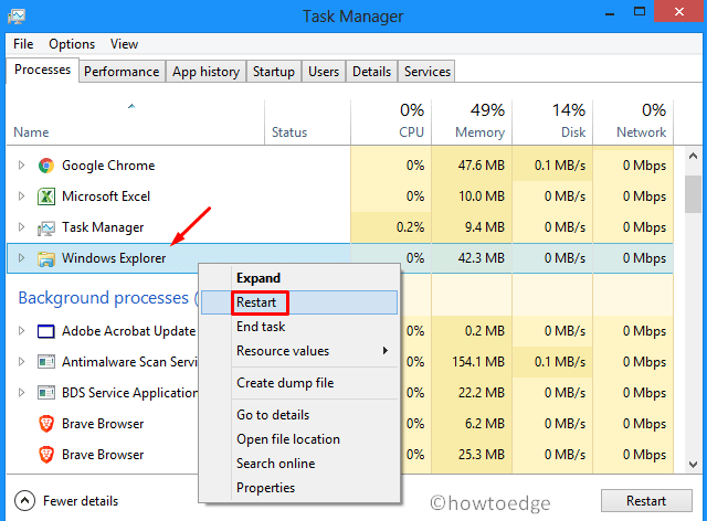 Right-click not working on Start, Taskbar