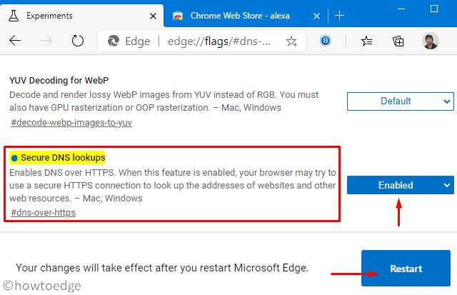 DNS over HTTPS in Microsoft Edge