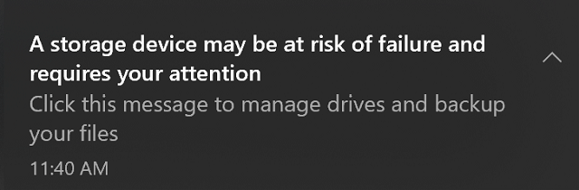 DriveHealth Notification