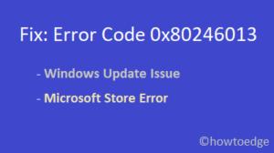 Fix 0x80246013