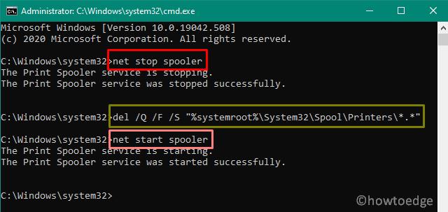 Fix Print Spooler Service issues on Windows 10 - CMD